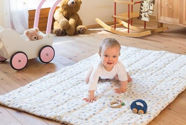 Bio Baby Krabbeldecke aus Biobaumwolle, Krabbeldecken GOTS kbA