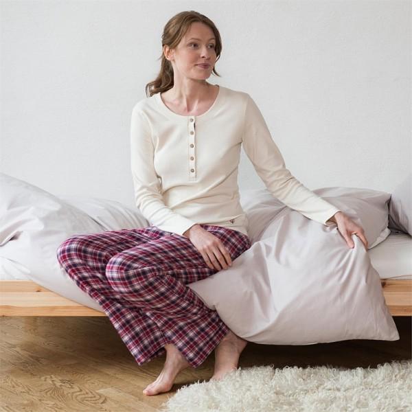 Bio DAMEN Pyjama, Schlafanzug JERSEY & FLANELL