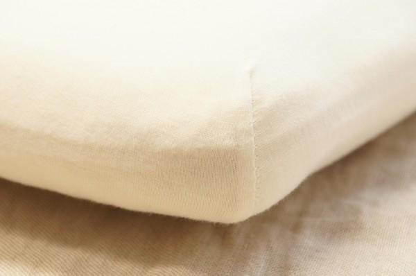 Bett-Laken kbA Bio Baumwolle, extra günstig, GOTS- JERSEY natur
