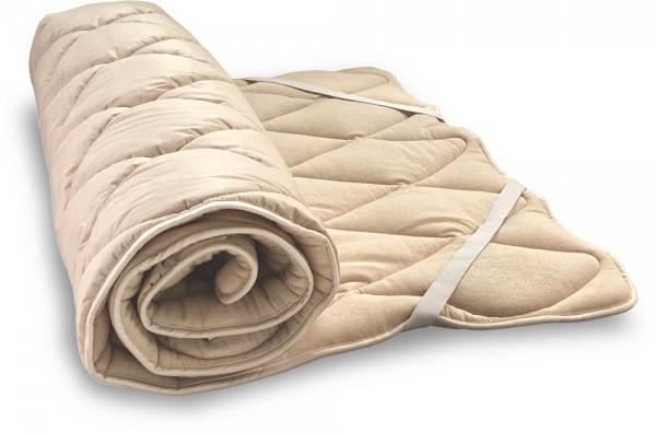 BIO SCHURWOLLE Unterbett im Bezug aus weichem BIO-JERSEY