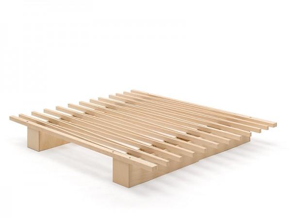 Holzbett TOJO-V aus BUCHE MULTIPLEX, metallfrei und flexibel