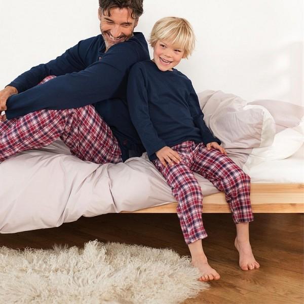 Bio Kinder Pyjama, Schlafanzug JERSEY & FLANELL