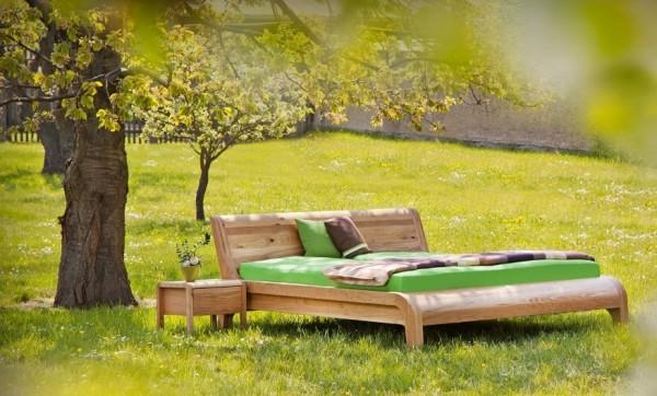 Massivholz Bett FRANCES, metallfreies Holzbett aus Wildeiche