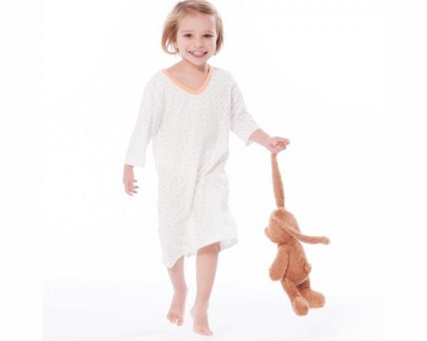 Bio Kinder Nachthemd 3/4 Arm, JERSEY Pünktchen