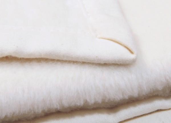 Bio Tagesdecke aus kbA-Baumwolle NATUR Bandeinfassung