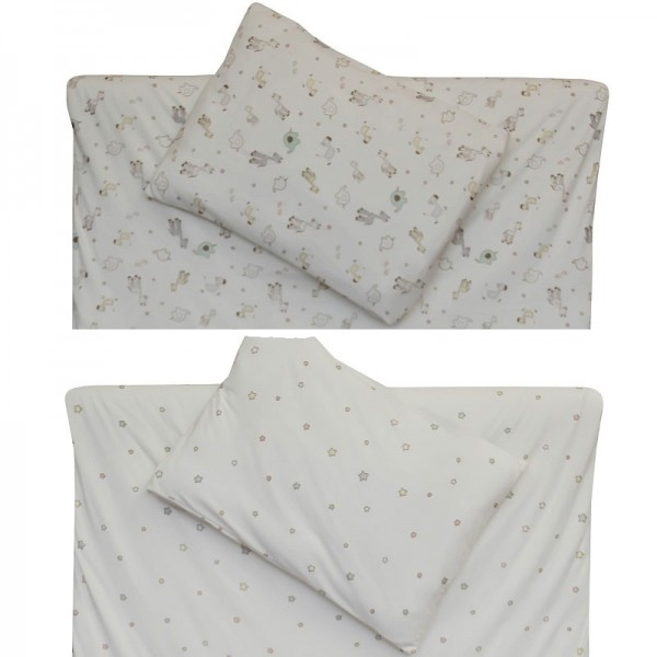 Bio Kinderbettwäsche - Bettbezug und Kissen, GOTS Biobaumwolle