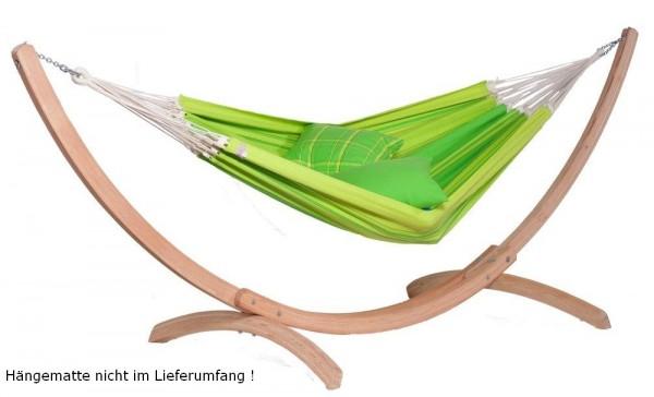 Hängemattenständer SINUS, wetterfestes Holz-Gestell für Hängematten