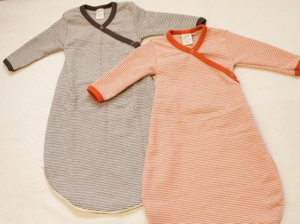 Bio Babyschlafsack RINGEL, Wickelschlafsack aus Biowolle und Seide