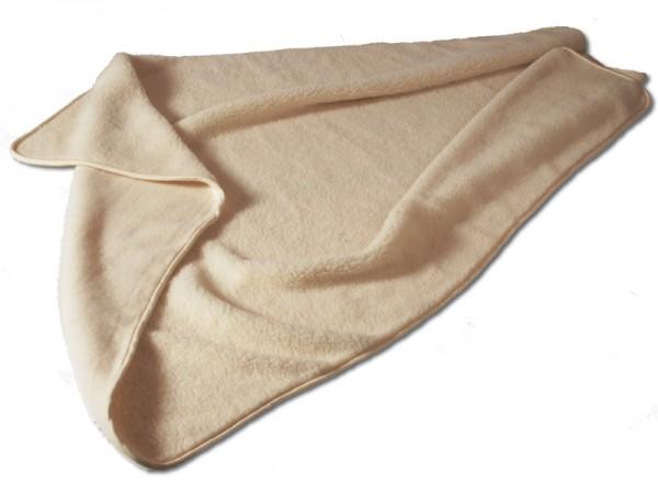 Bio Wolldecke MERINO-PLÜSCH, Schafwolle Decke in bio-Qualität