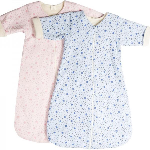 Bio Kinderschlafsack STERNE, gefütterter Schlafsack in BIO-Qualität