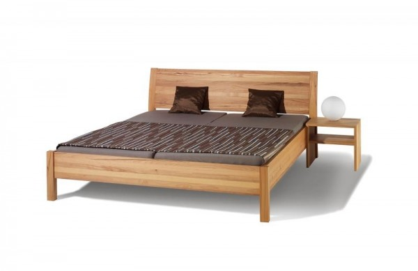 Massivholz Bett SWING, KERNBUCHE massiv, geölt und gewachst