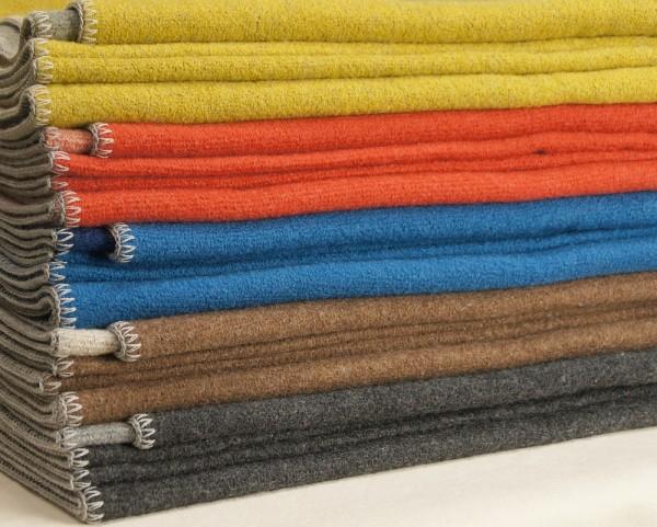 Bio Double-Face Wolldecke von DISANA, Wolldecken Merino Wolle